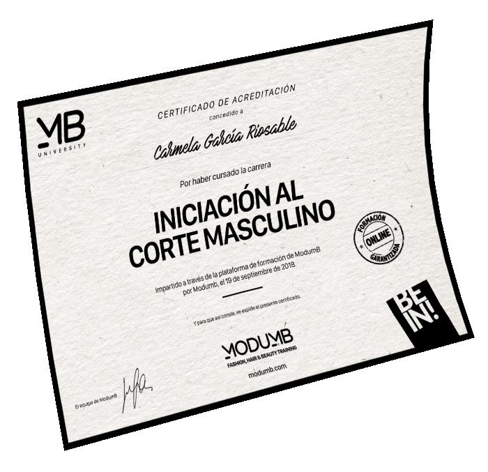 Diploma Carrera Iniciación Corte Masculino