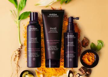 AVEDA.  NATURAL HAIR PRODUCTS.