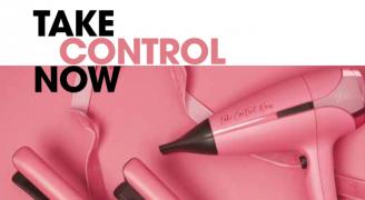 GHD PINK. Take control now.