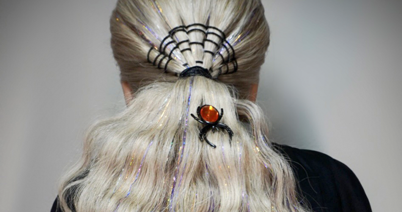 Halloween Look: Tinseled Spider Web Tail