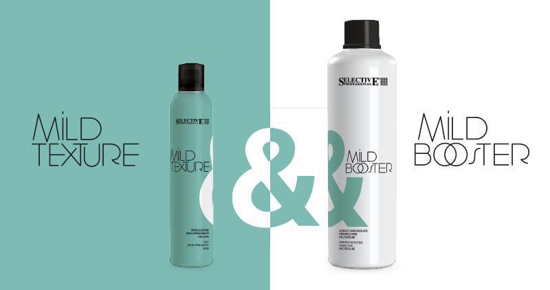 Dale forma a tu pelo con MILDTEXTURE & MILDBOOSTER
