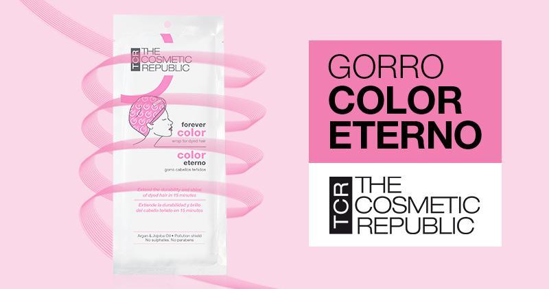 Con Gorro Color Eterno extiende la durabilidad y brillo del cabello teñido