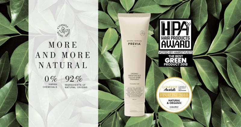Keeping-Coloured Hair, de Previa Natural Haircare, galardonado como Mejor producto green 2018