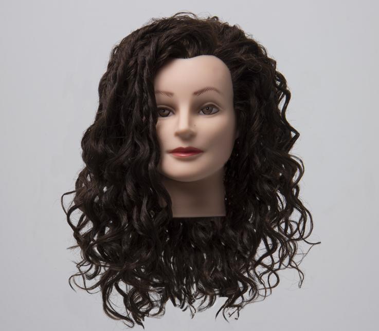 Permanente de cabello largo con moldes planos