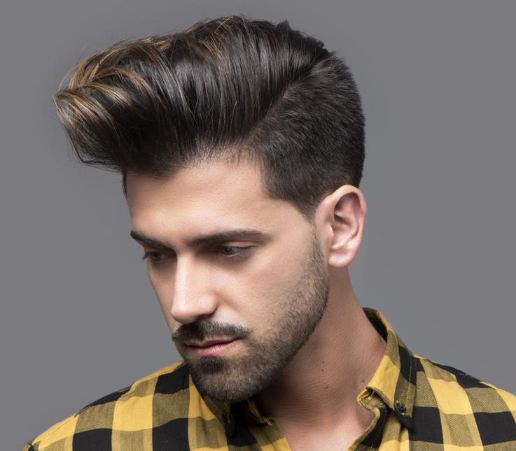 Corte masculino actual y arreglo de barba
