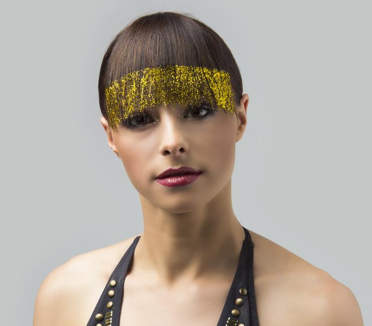 Peinado con glitter