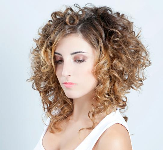 Hair makeover with a spiral perm technique