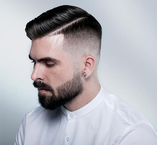 Comb over fade for men