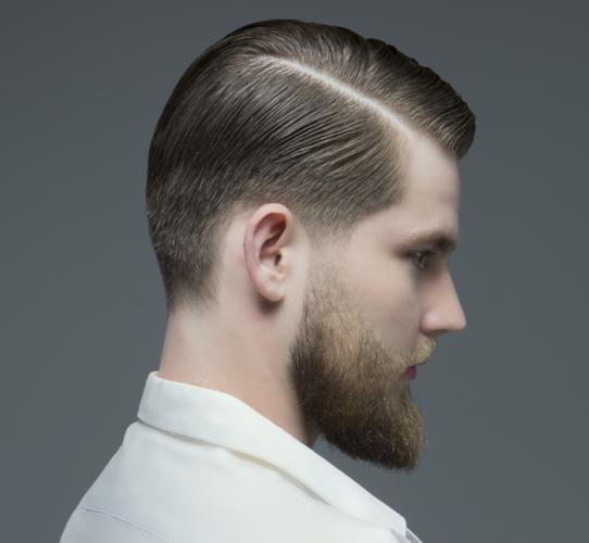 Traditional male cut and shave