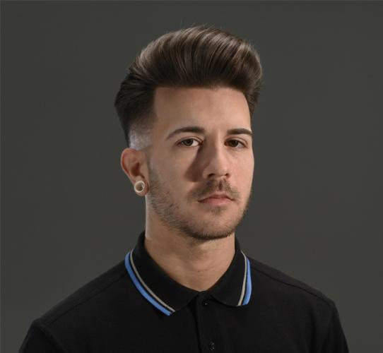 Pompadour with a high fade