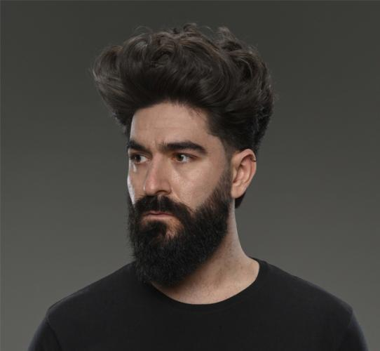 Men's haircut European style