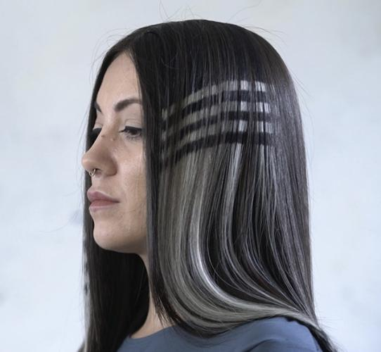 Geometric designs for hair extensions