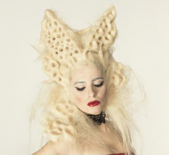 Editorial avant-garde look: Trypophobia collection
