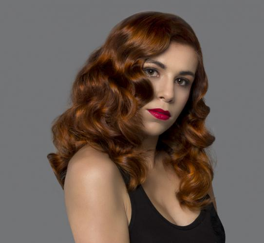 Hair color with convex partings