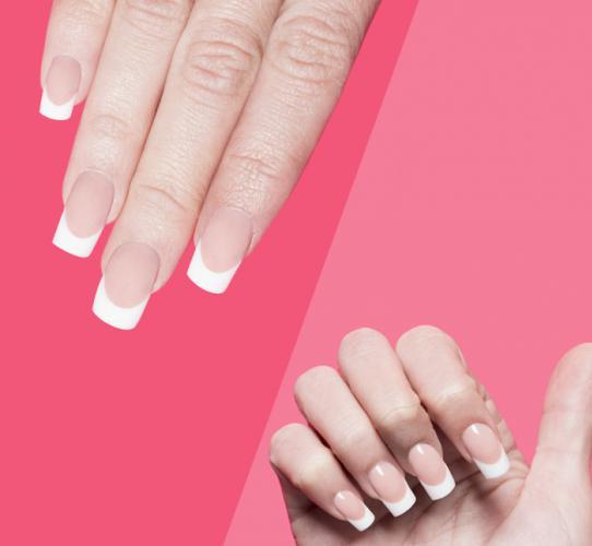 Diseño French Manicure con técnica de reversa