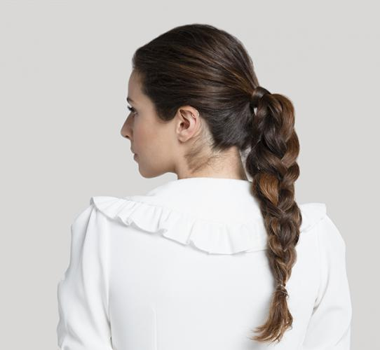 Ponytail with 3D braid