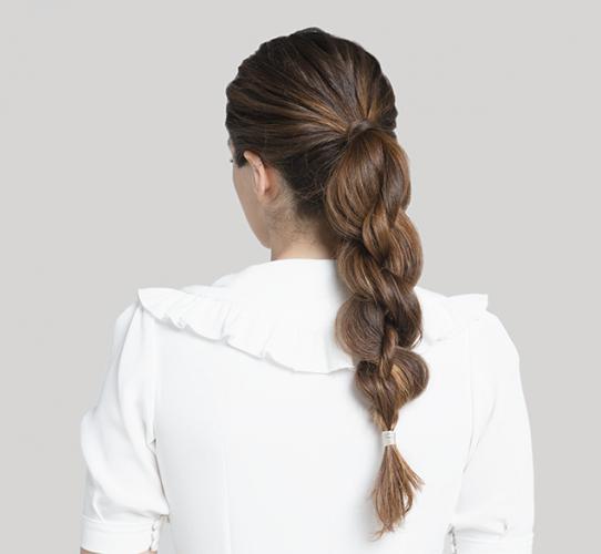 Three strand rope braid ponytail