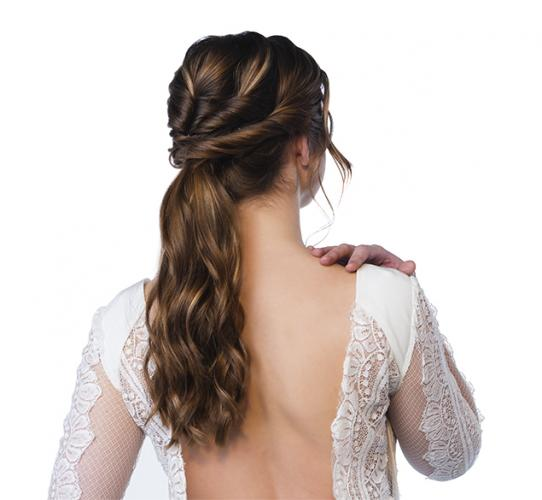Bohemian ponytail