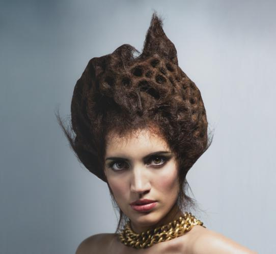 Hair shapes and textures: Trypophobia collection