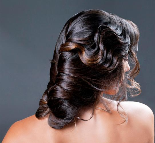 Charming loose fishtail updo