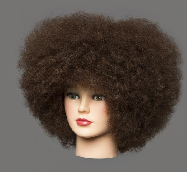 Técnica de peinado afro