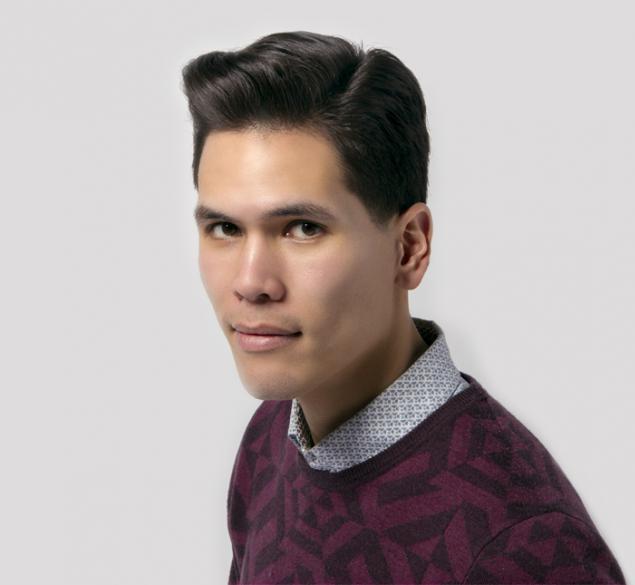 Corte masculino en cabello grueso