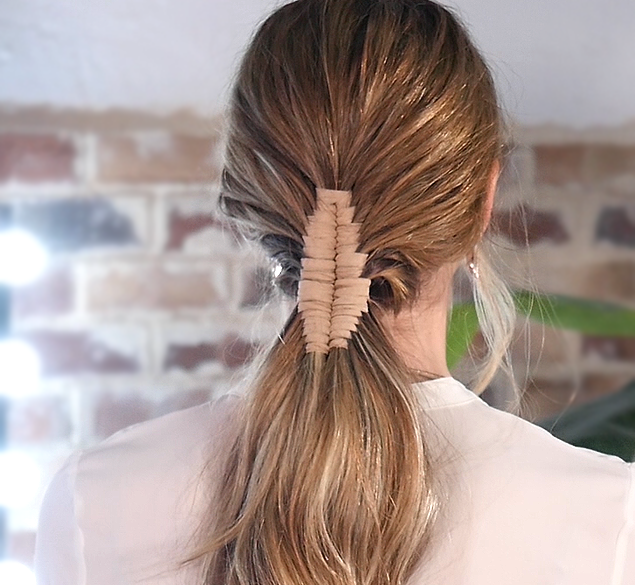 How to create a stunning bridal ponytail