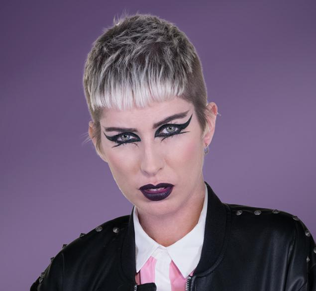 Corte inspiración Skin Punk