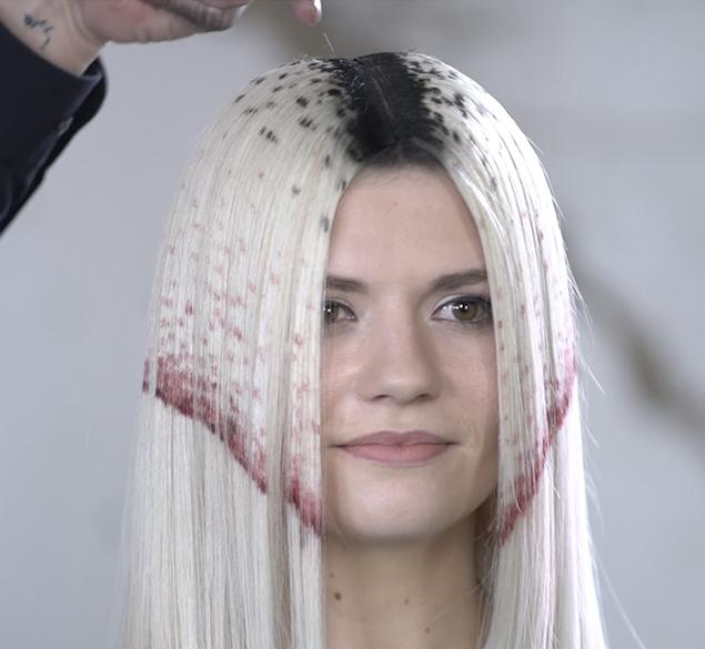 Avant-garde color designs for hair extensions