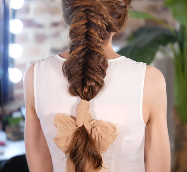A fishtail braiding technique that will impress your clients