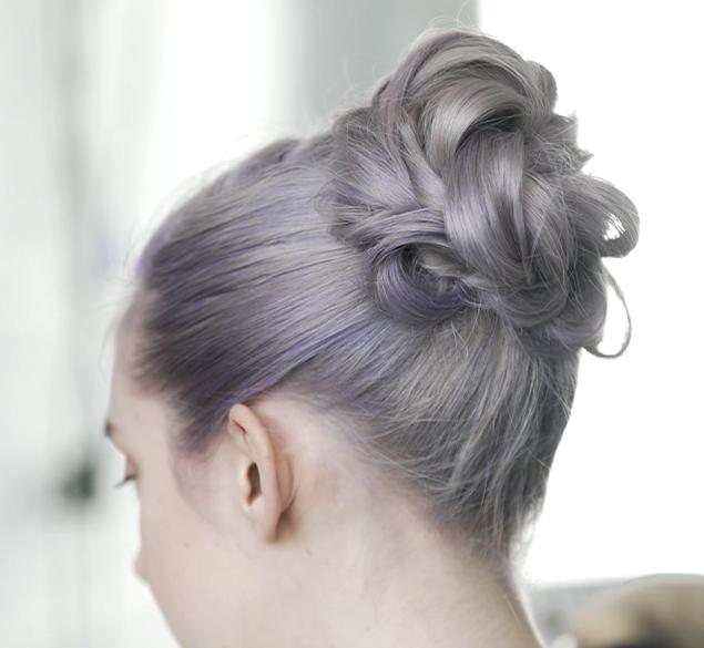 Updo with different braiding techniques