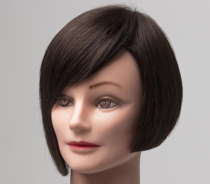 Corte asimétrico en cabello fino
