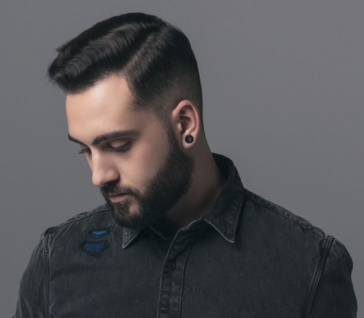Corte masculino con degradado natural
