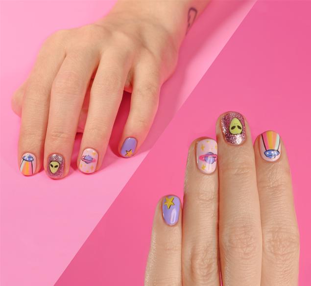 Diseño de uñas inspiración espacial